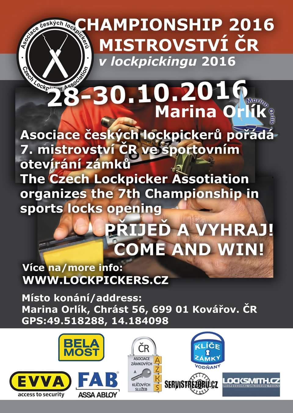 Mistrovství ČR 2016 v lockpickingu