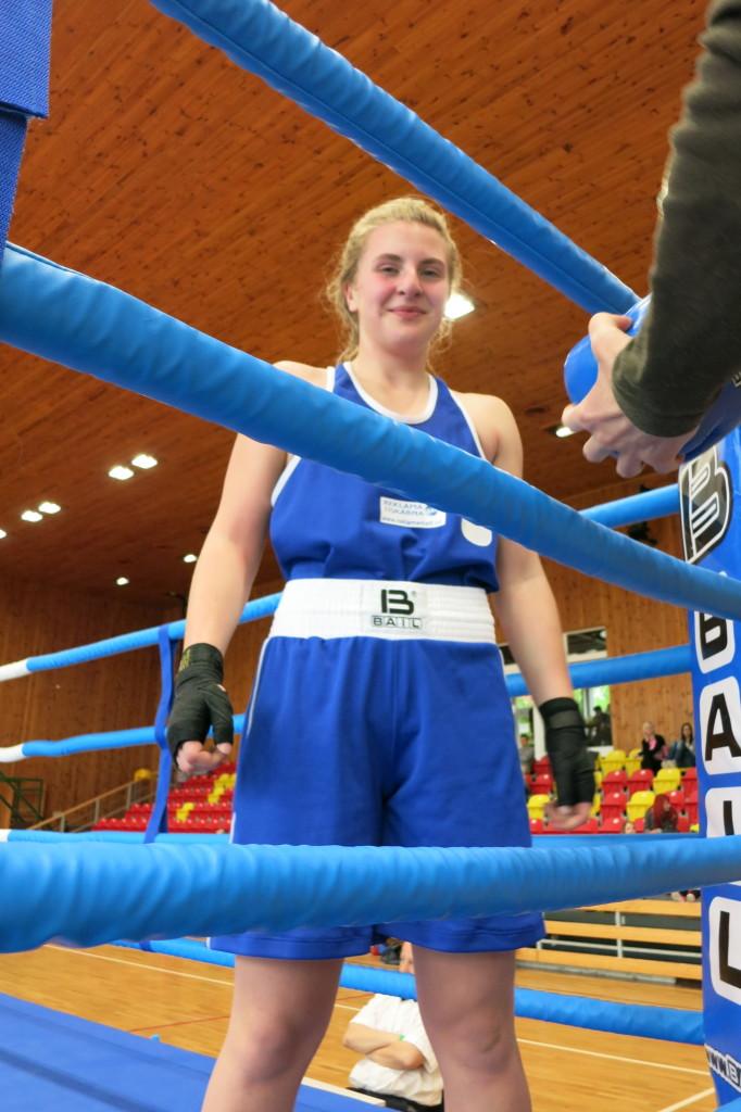 Kristýna Václaviková Sport klub Prostějov po bojovném utkání 15.4.2017 ve Znojmě